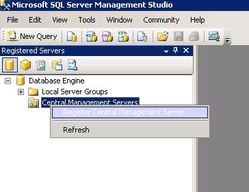 Register a Central Management Server
