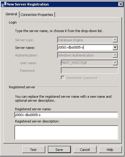 Enter Registered Server
