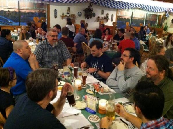 Speaker dinner at the Schnitzel Platz (MarkV is an instigator) -Thanks to Dave Mattingly for the photo